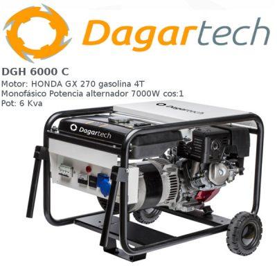 Generador electrico Dagartech DGH 6000 C