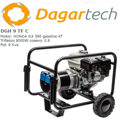 Generador electrico Dagartech DGH 9 TF C