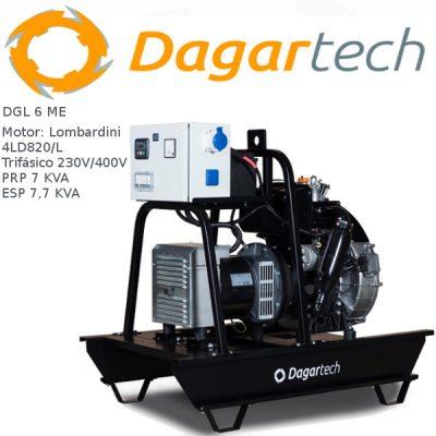 Generador electrico 1500rpm Dagartech DGL 6 ME