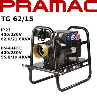 Generador electrico toma fuerza tractor Pramac TG62/15