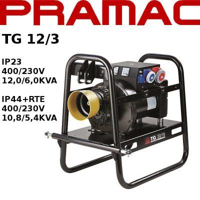 Generador electrico toma fuerza tractor Pramac TG12/3