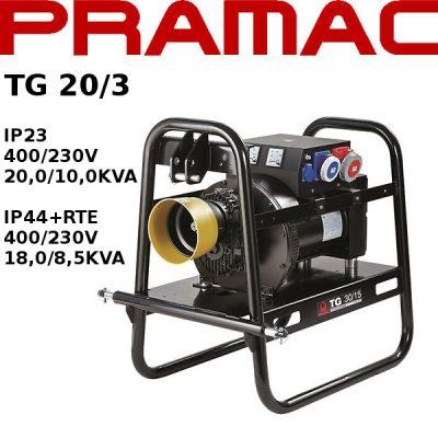 Generador electrico toma fuerza tractor Pramac TG20/3