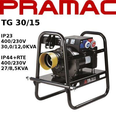 Generador electrico toma fuerza tractor Pramac TG30/15