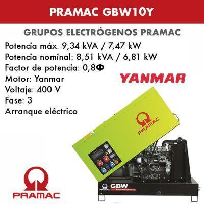 Grupo electrógeno insonorizado Pramac GBW10Y