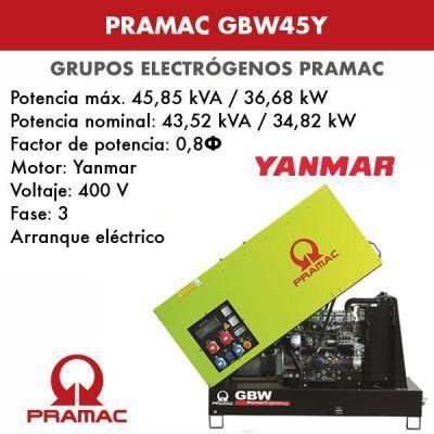 Grupo electrógeno insonorizado Pramac GSW45Y