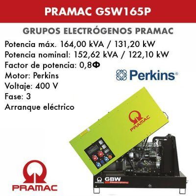 Grupo electrogeno insonorizado Pramac GSW165P