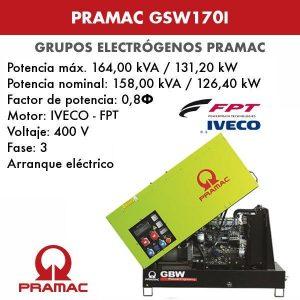 Grupo electrógeno insonorizado Pramac GSW170I