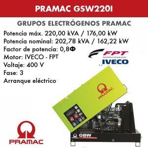 Grupo electrógeno insonorizado Pramac GSW220I