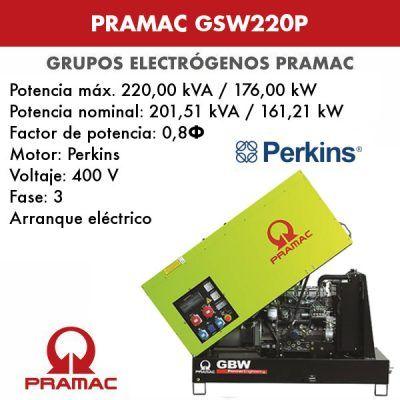 Grupo electrógeno insonorizado Pramac GSW220P