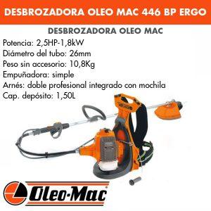 Desbrozadora mochila Oleo Mac 446 BP ERGO