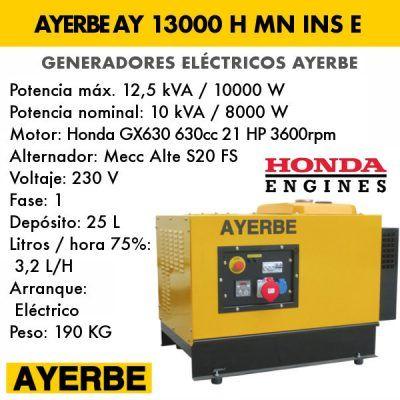 Generador insonorizado Ayerbe AY 13000 H MN INS E