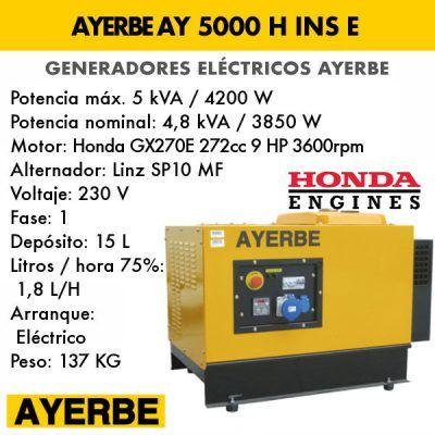 Generador insonorizado Ayerbe AY 5000 H INS E