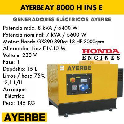 Generador insonorizado Ayerbe AY 8000 H INS E