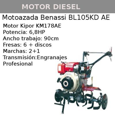 Motoazada Benassi bl105kd ae