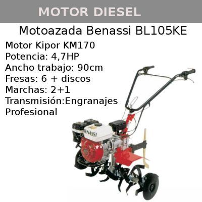Motoazada Benassi BL105KE