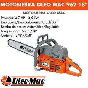 """Motosierra Oleo Mac 962 18"""""""
