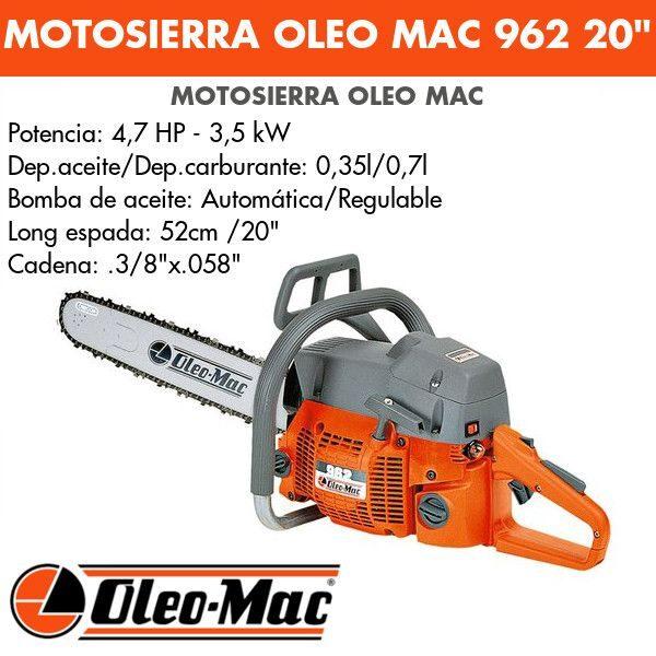 """Motosierra Oleo Mac 962 20"""""""