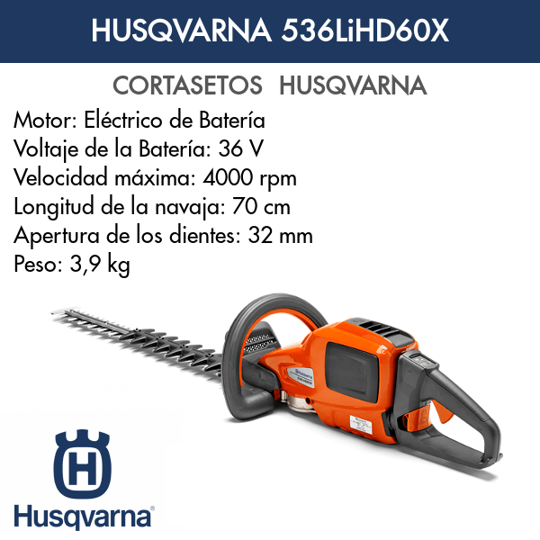 Cortasetos Husqvarna 536LiHD60X