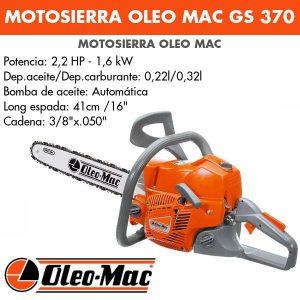 Motosierra oleo mac gs370