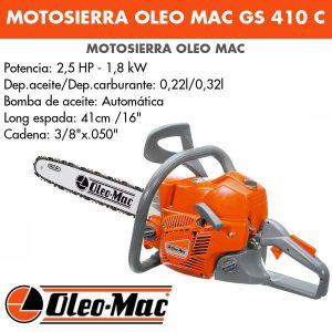 motosierra oleo mac gs410c