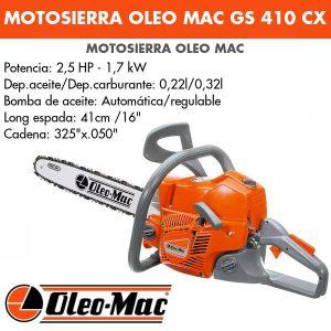 Motosierra Oleo Mac GS410CX