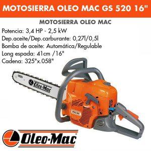 Motosierra oleo mac gs520 16