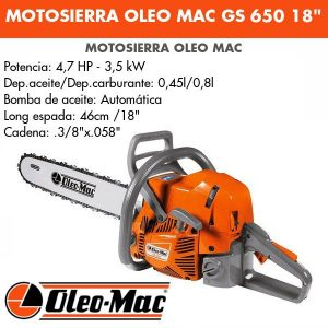 """Motosierra Oleo Mac GS650 18"""""""