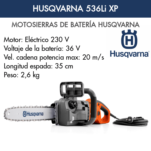 Motosierra de Batería Husqvarna 536Li XP
