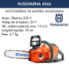 Motosierra de batería Husqvarna 436Li