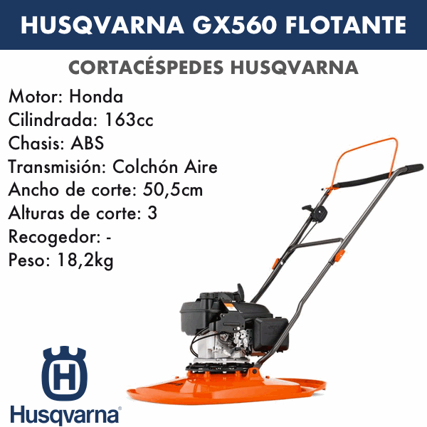 Cortacesped Husqvarna Gx560 flotante