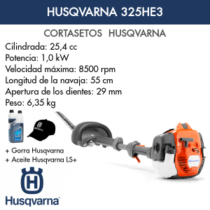 Cortasetos Husqvarna 325HE3