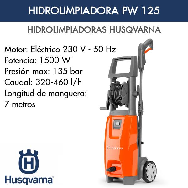 Hidrolimpiadora Husqvarna PW 125