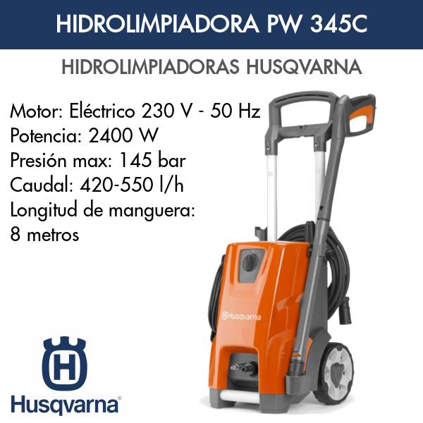 Hidrolimpiadora Husqvarna PW 345C