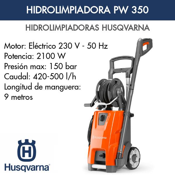 Hidrolimpiadora Husqvarna PW 350