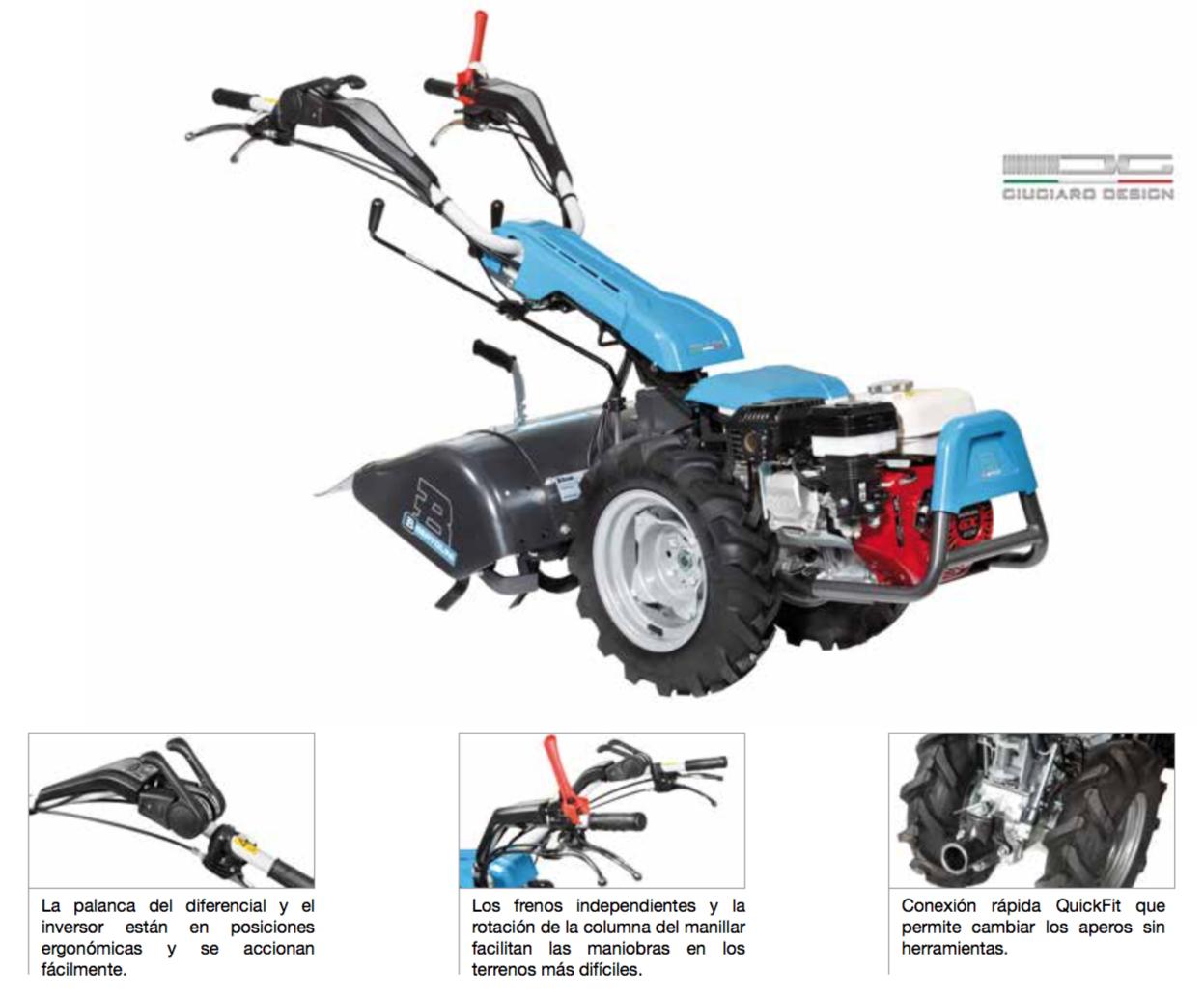 Motocultor gasolina Bertolini 407S Honda caracteristicas