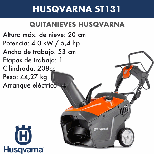 Quitanieves Husqvarna ST131