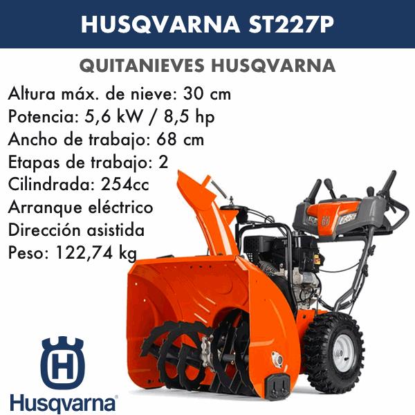 Quitanieves Husqvarna ST227P