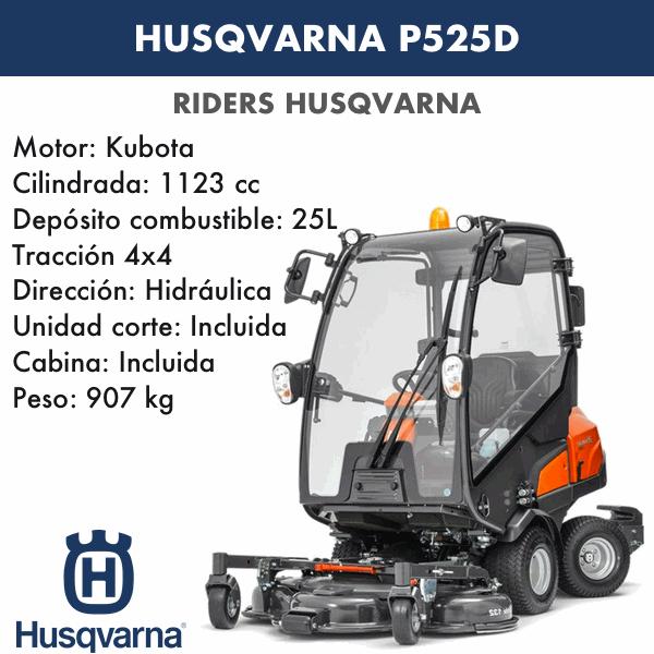 Rider Husqvarna P525D con cabina