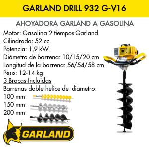 Ahoyadora a gasolina GARLAND DRILL 932 G-V16
