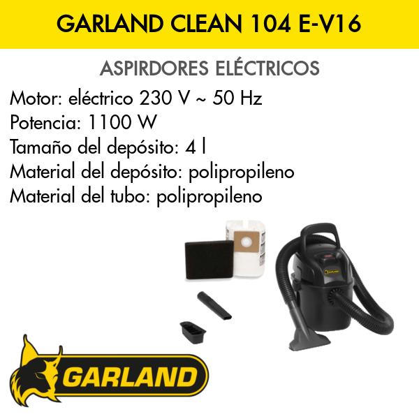Aspirador Garland CLEAN 104 E-V16