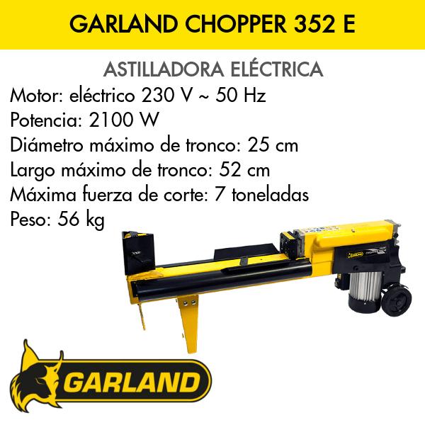 Astilladora Garland Chopper 352 E