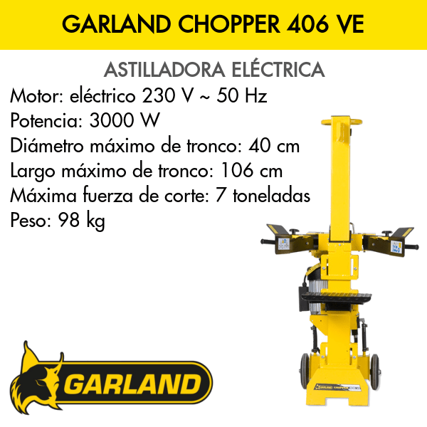 Astilladora Garland Chopper 406 VE