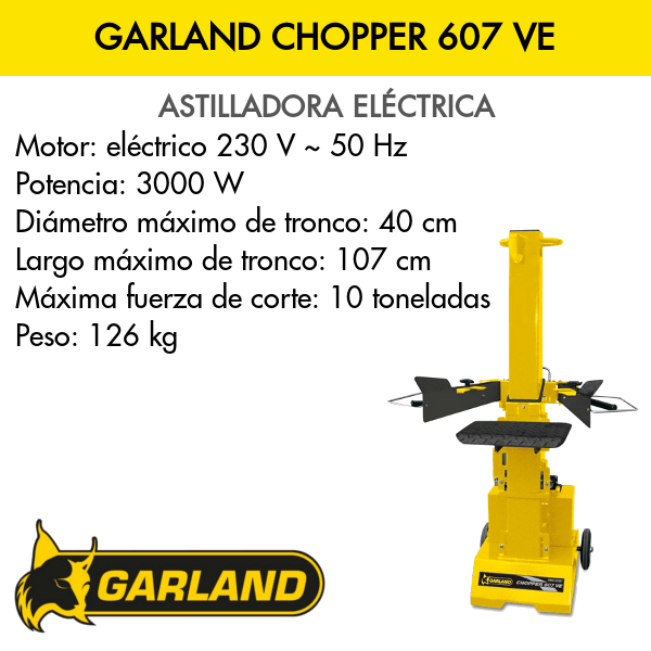 Astilladora Garland Chopper 607 VE
