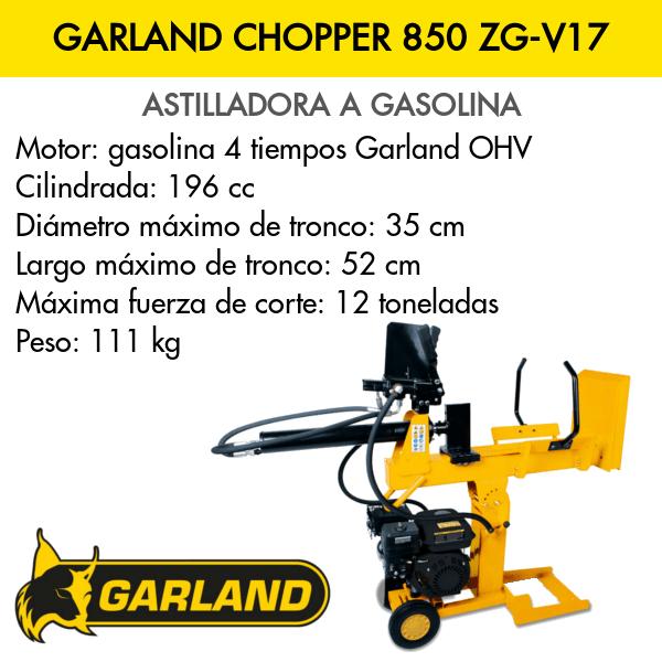 Astilladora Garland Chopper 852 ZG-V17