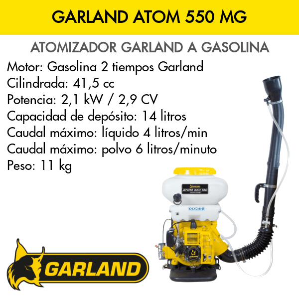 Atomizador a gasolina GARLAND ATOM 550 MG