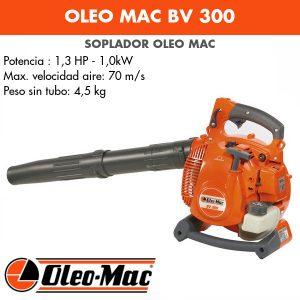 Soplador Oleo Mac BV 300 Chrome + Kit aspiración