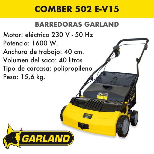 Barredora-peinadora Garland Comber 502 E-V15