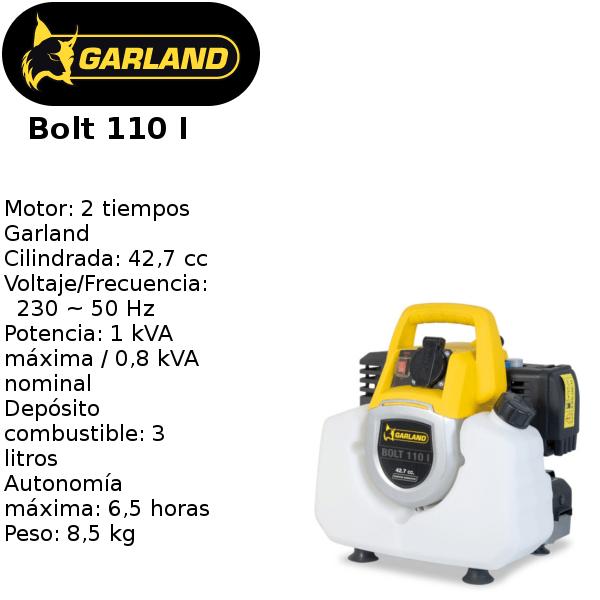 generador eléctrico garland bolt 110 I