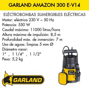 Bomba de agua sumergible eléctrica Garland AMAZON 300 E-V14
