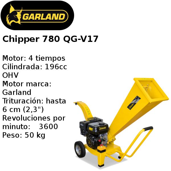 trituradora de ramas garland chipper 780 qg-v17